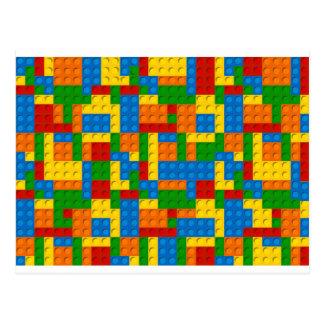 blocs colorés de plastique cartes postales
