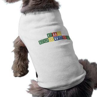 Blocs de bébé de frère t-shirt pour chien