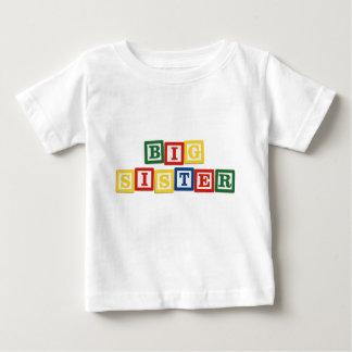 Blocs de bébé de grande soeur t-shirt pour bébé