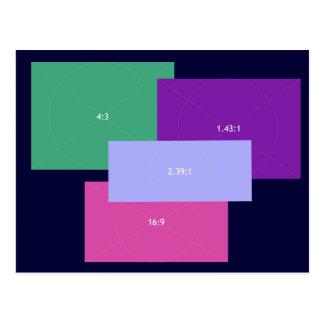 Blocs de couleur d'allongement carte postale