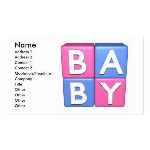 blocs de jouet du bébé 3D Cartes De Visite Professionnelles