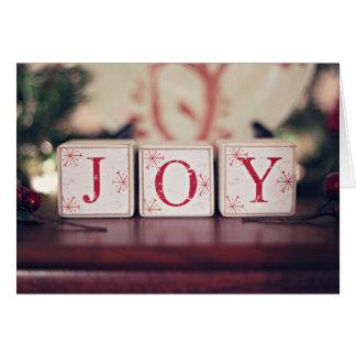 Blocs de Noël avec des mots JOIE Carte De Vœux
