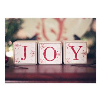 Blocs de Noël avec des mots JOIE Carton D'invitation 12,7 Cm X 17,78 Cm