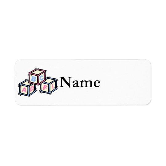 blocs étiquette d'adresse retour