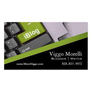 Blog de WordPress d'Internet de rédacteur d'auteur Modèle De Carte De Visite
