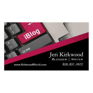 Blog de WordPress d'Internet de rédacteur d'auteur Carte De Visite Standard