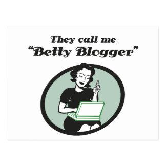 Blogger de Betty Carte Postale