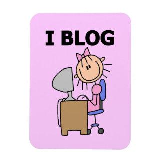 Blogger de fille magnets en rectangle