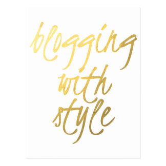 Blogging avec le style - manuscrit d'or cartes postales