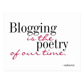 Blogging est la poésie de notre temps - carte carte postale