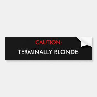 Blonde de précaution autocollant de voiture