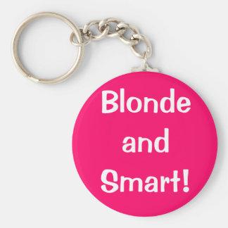 Blonde et Smart ! Porte-clé Rond