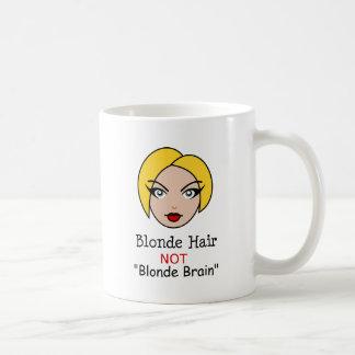 Blonde non blonde mug blanc