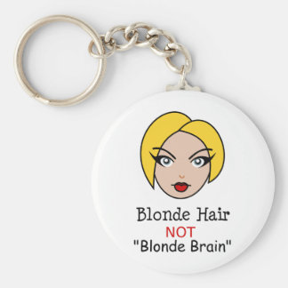 Blonde non blonde porte-clé rond