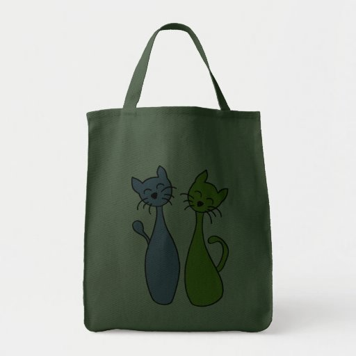 blue and ils green des kitties sac en toile