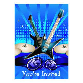Blue Electric Guitars, Drums & Speakers Announcement