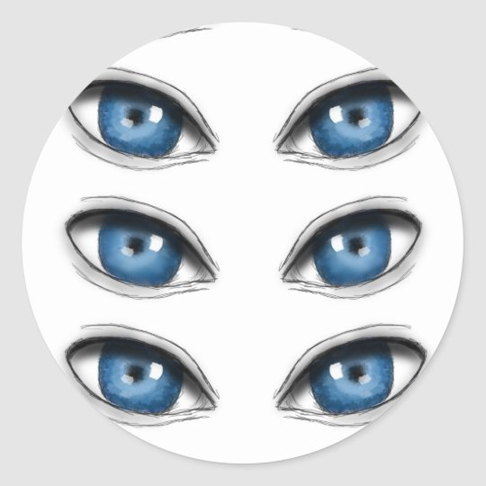 blue eyes stickers
