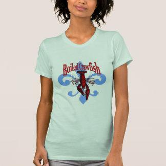 Blue Fleur De Lis affligé, écrevisse bouillie T-shirt