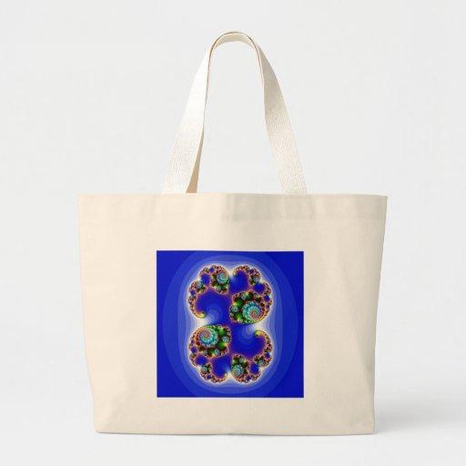 blue fractal image sac en toile