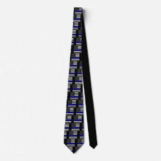 Blue Line mince américain montrent Cravates