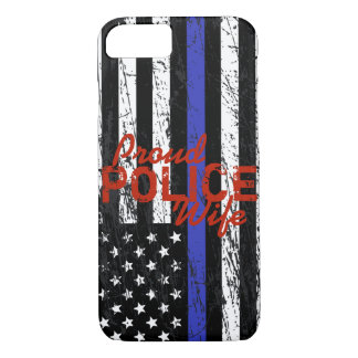 Blue Line mince Coque iPhone 7