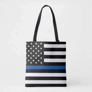 Blue Line mince - drapeau américain Sac