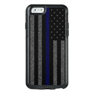 Blue Line mince grunge diminuent Coque OtterBox iPhone 6/6s