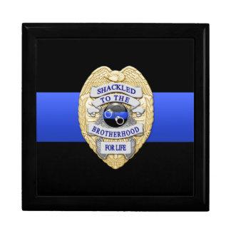 Blue Line mince - la police conteste la cabine Grande Boîte À Bijoux Carrée