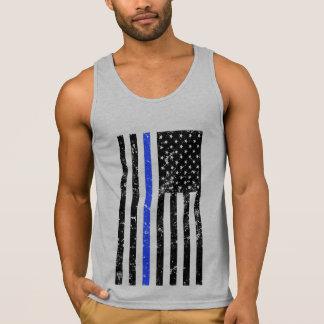 Blue Line mince - policier - drapeau affligé