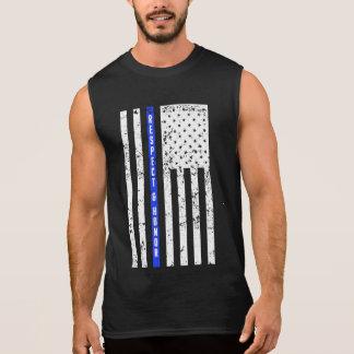 Blue Line mince - respect et honneur - chemise de T-shirt Sans Manches