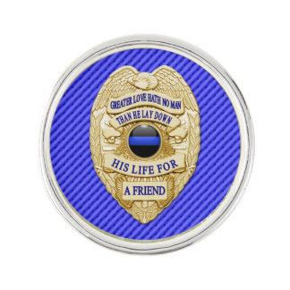 Blue Line mince - un plus grand insigne d'amour Pin's