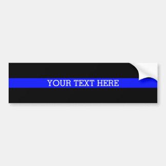 Blue Line mince - votre des textes adhésif pour Autocollant Pour Voiture
