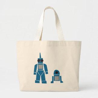 Blue Robots Sac En Toile Jumbo