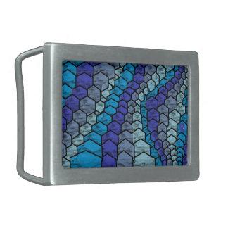 blue snake 2 boucles de ceinture rectangulaires