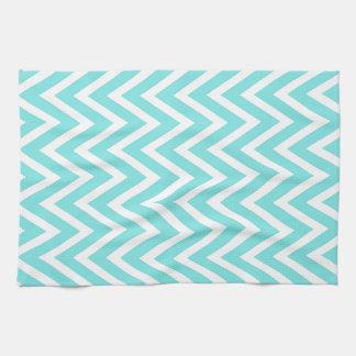 Blue zigzags serviettes pour les mains