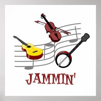 Bluegrass de campagnards de Jammin Affiche