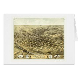 Bluffs du Conseil, carte panoramique d'IA - 1868