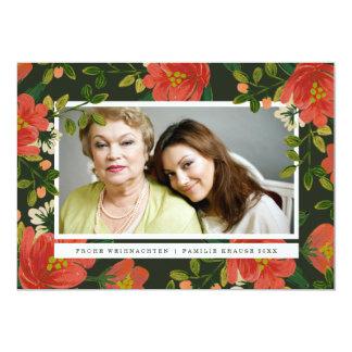 Blumenweihnachtskarte Carton D'invitation 12,7 Cm X 17,78 Cm