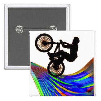 BMX sur la route d'arc-en-ciel Badges