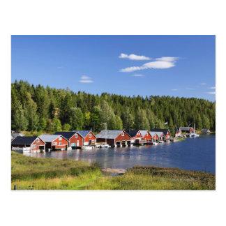 Boathouse à la haute côte cartes postales