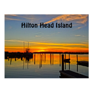 Boathouse Hilton Head de crique de crâne Carte Postale