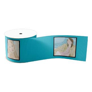 Bobine customisée par 4-Photo de ruban bleu Ruban Gros-grain