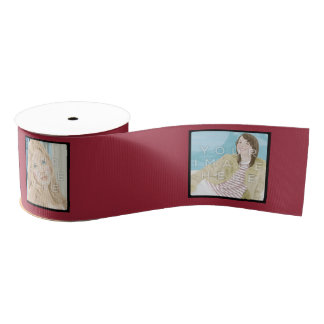 Bobine rouge de ruban customisée par 4-Photo Ruban Gros-grain