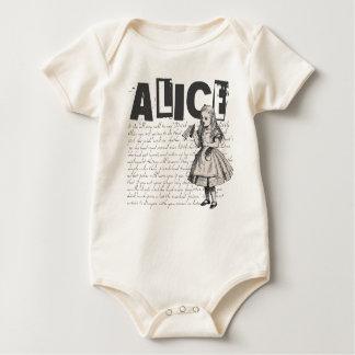 Body Alice dans l'image des textes et d'Alice du pays