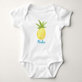 Body Aloha chemise de nourrisson d'aquarelle d'ananas
