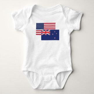 Body Américain et drapeau de la Nouvelle Zélande
