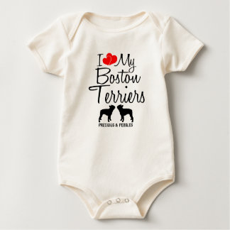 Body Amour de la coutume I mes deux terriers de Boston
