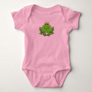Body Animal vert mignon drôle de grenouille de bande