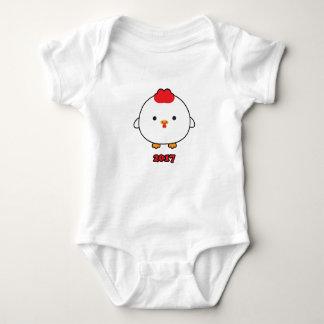 Body Année de la combinaison 2017 de bébé de coq