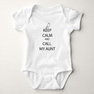Body Appelez mon costume de bébé de tante